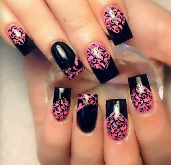 Nail Design Pink And Purple