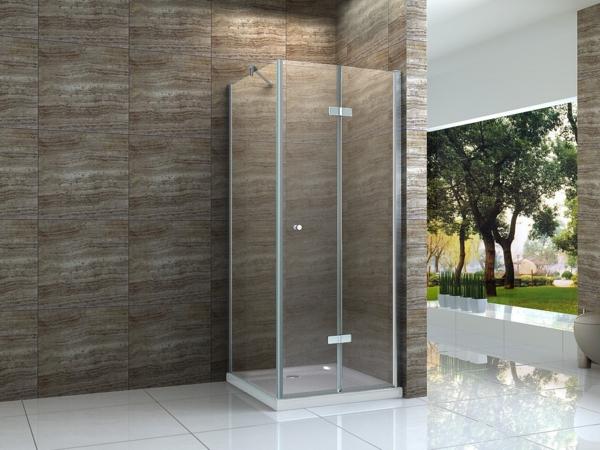 Duschkabinen-aus-Glas-modernes-Design-braune-Fliesen