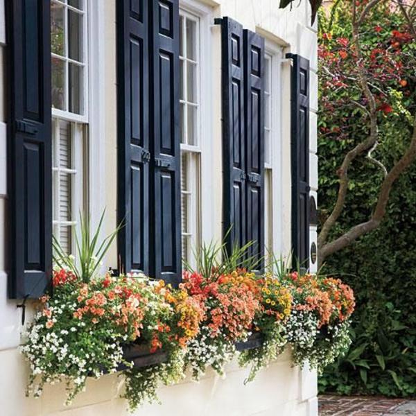 Fensterladen-aus-Holz-in-schwarzer-Farbe