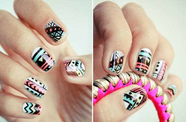 Fingernägel-Design-Idee-für-kurze-Nägel