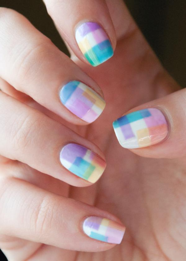 Fingernägel-Design-Idee-farbige-Nägel