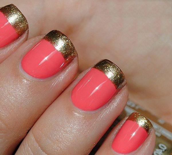 Fingernägel-Design-Ideen-Golden