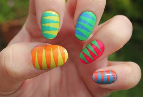 Fingernägel-Design-Ideen-viele-Farben