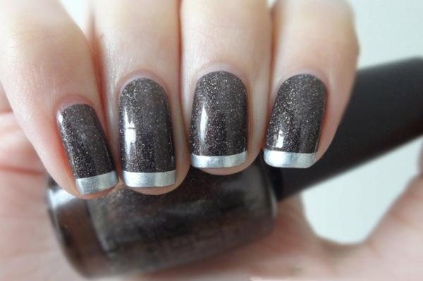 Fingernägel-Design-Schwarz-Silbern