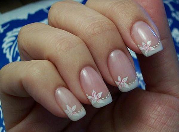 Fingernägel-Design-originelle-Idee-Blumendeko
