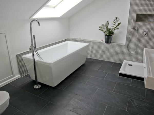 Fliesen-Schwarzer-Schiefer-Badezimmer-