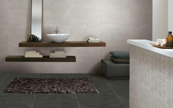 Tolle Badideen für Fliesen – elegante graue Farbe !