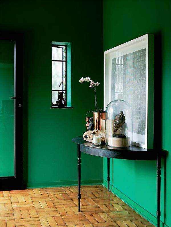 Flur-Idee-Wandgestaltung-Grün
