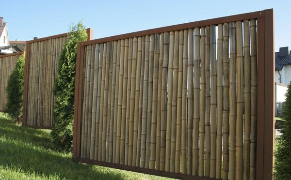 Gartenzaun-Bambus-Idee-für-den-Garten