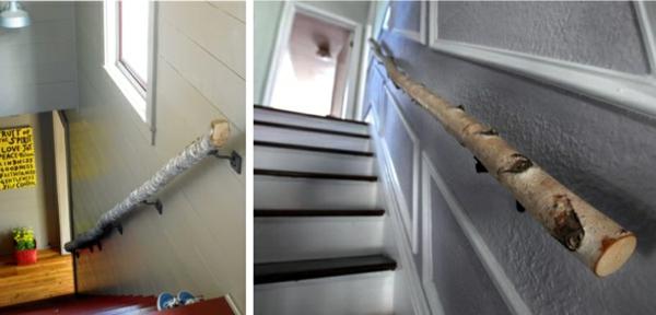 Geländer-Birkenstamm-Dekoration-Idee