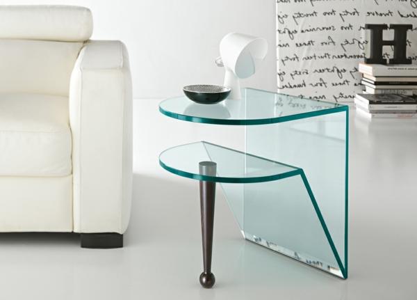beistelltisch aus glas attraktive modelle. Black Bedroom Furniture Sets. Home Design Ideas
