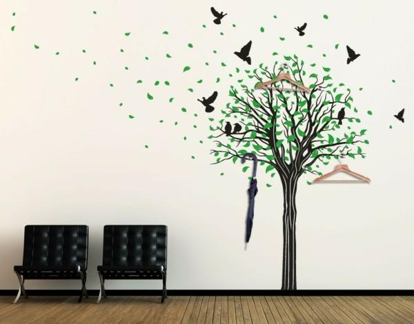 Wandtattoo garderobe eine originelle idee for Baum wand