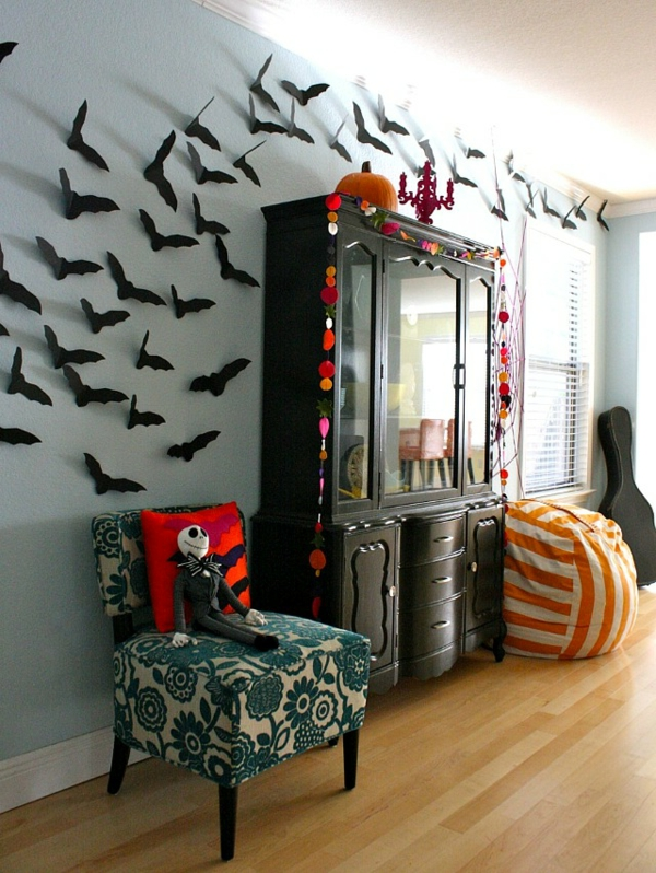 tolle halloween dekoration selber machen. Black Bedroom Furniture Sets. Home Design Ideas