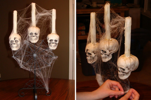 Halloween-Deko-selber-machen-Schädel-mit-Kerzen-drinnen