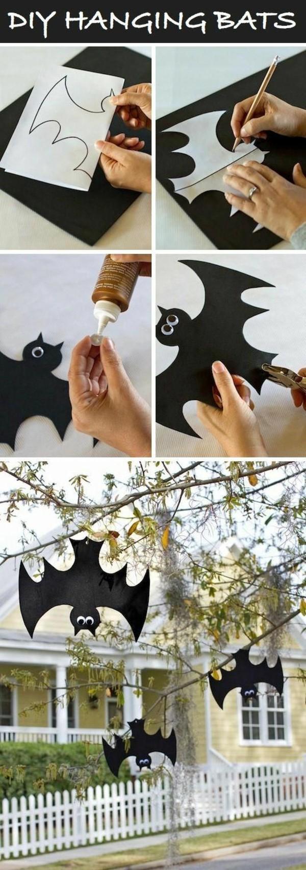 Halloween-Dekoration-selber-basteln-DIY-Fledermäuse