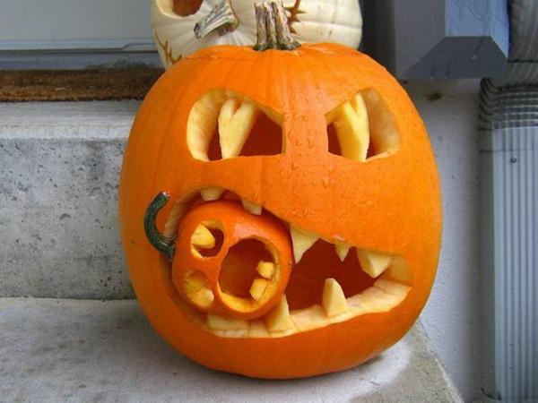 Halloween k rbis schnitzen coole ideen - Tischdeko kurbis ...