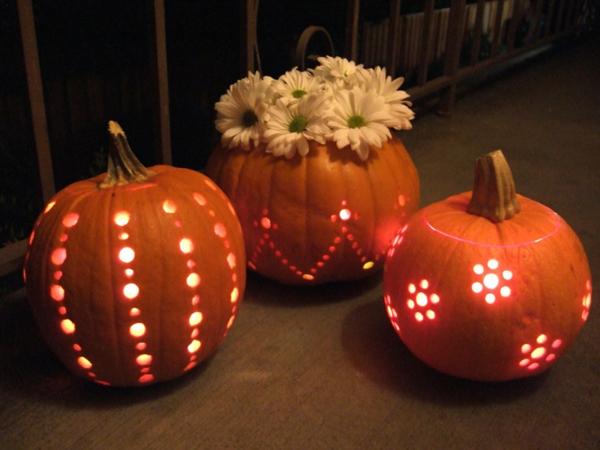 Kürbis-halloween-schnitzen-Halloween