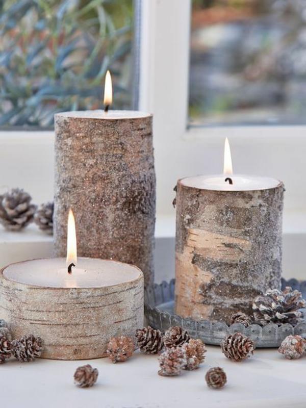 Fantastische birkenstamm deko for Kerzen dekoration