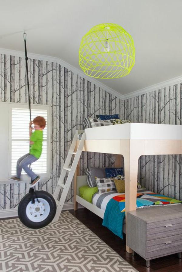 Kinderzimmer- Deckenlampen-Grün-Idee