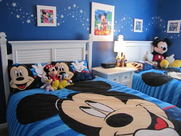 Kinderzimmer-Ideen-Bettwäsche-Mickey-Maus-Motive