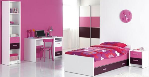 Kinderzimmer-Schlafzimmer-in-Rosa