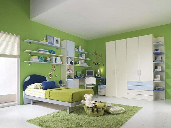 Kinderzimmer-Wandgestaltung-Grün