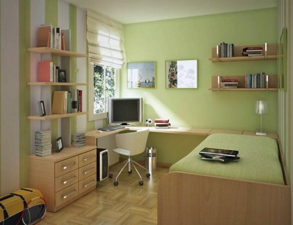100 ideen für wandgestaltung in grün! - archzine.net - Wandfarbe Grun Kinderzimmer