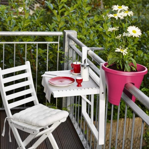 Klapptisch-für-Balkon-Hängetisch-Blumentopf-in-Rosa