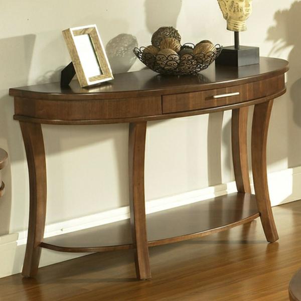 Konsolentisch-Tisch-in-halbrunder-Form-