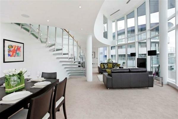 Penthouse minimalistischem Innendesign barockelemente