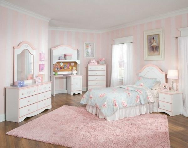 Mädchenzimmer-Schlafzimmer-in-Rosa