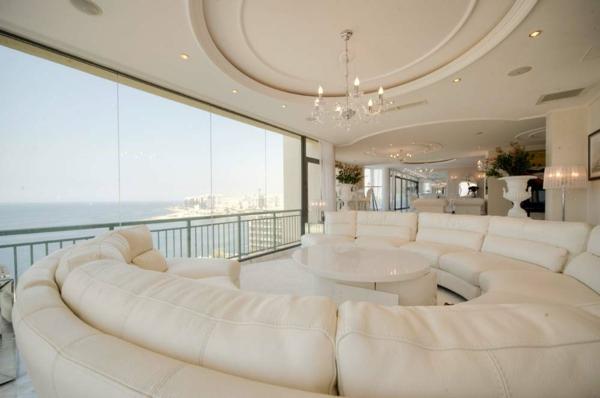 Luxus ledercouch  Penthousewohnung - 64 faszinierende Fotos! - Archzine.net