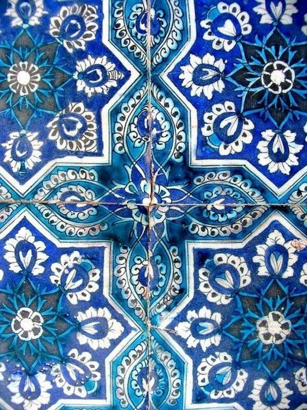 Marokkanischer-Stil-Fliesen-Blau-Grün-Ornamente