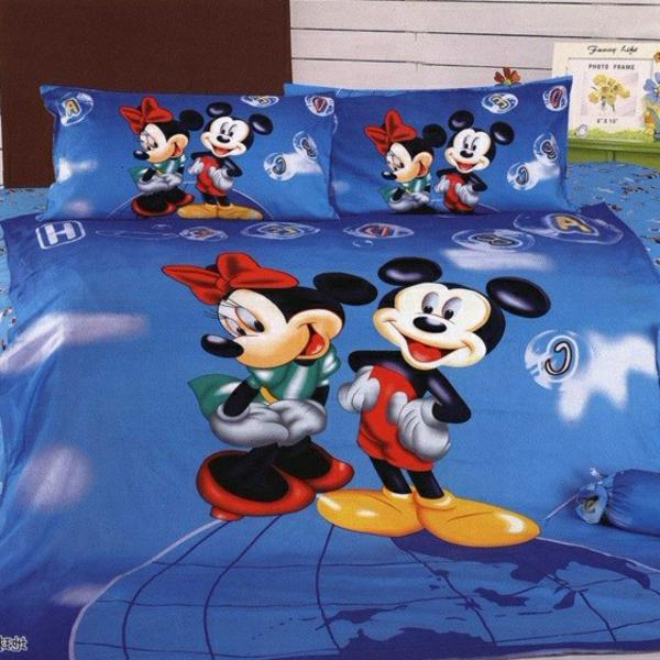 Mickey-Maus-Bettwäsche-in-Blau