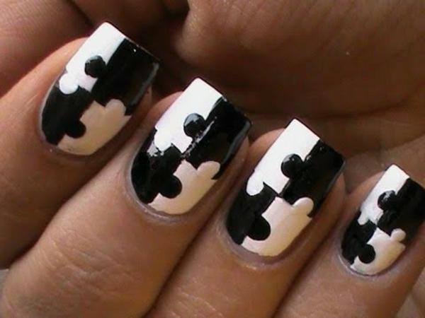 Puzzle-Fingernägel-Design-Ideen
