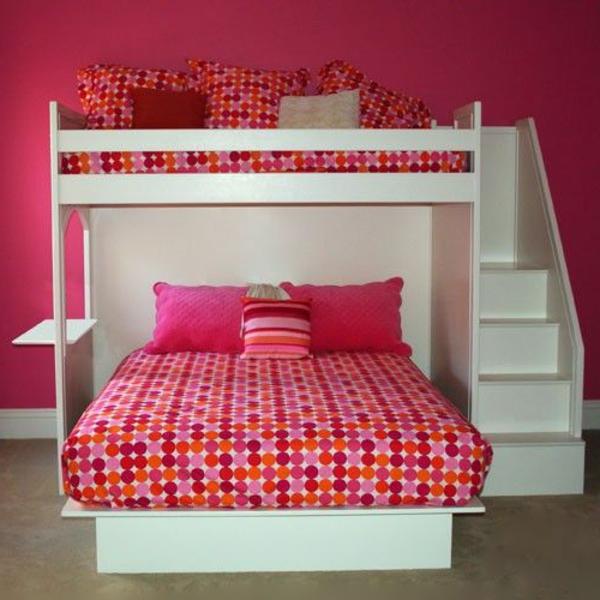 -Schlafzimmer-in-Rosa-rosa-Bettwäsche