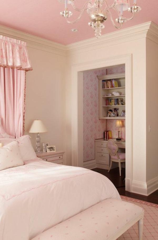 Schlafzimmer-in-Rosa-rosa-Wände