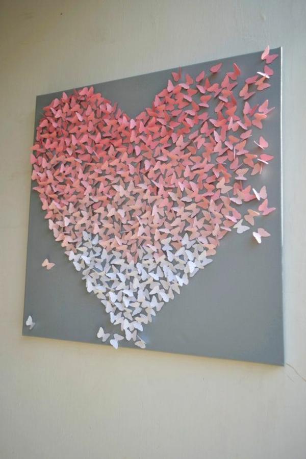schlafzimmer in rosa farbe wanddeko papier