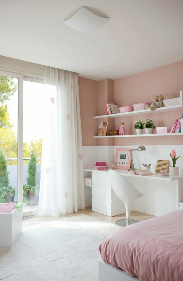 100 faszinierende rosa schlafzimmer - Chambre blanche et rose ...