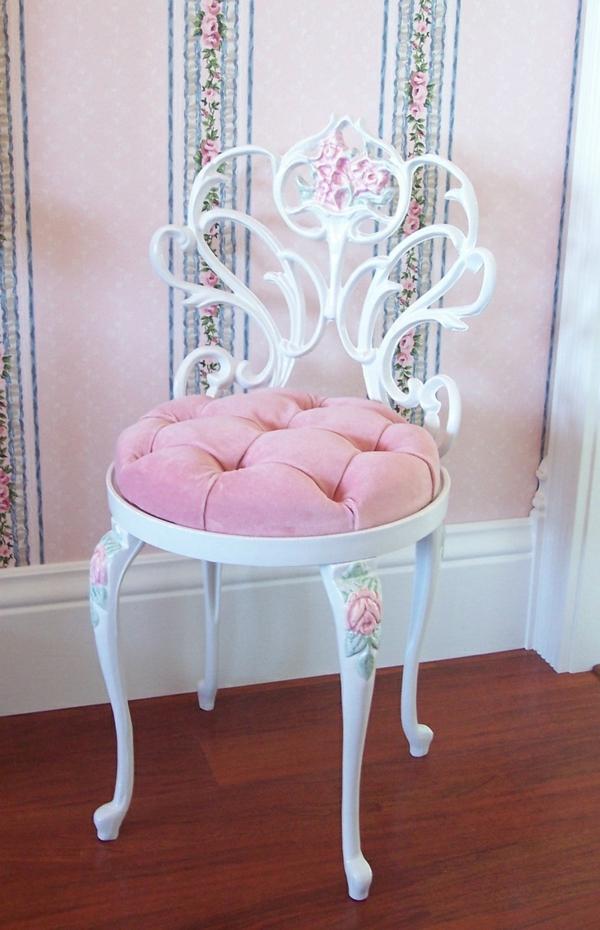 Schlafzimmer In Rosa Farbe Rosa Stuhl