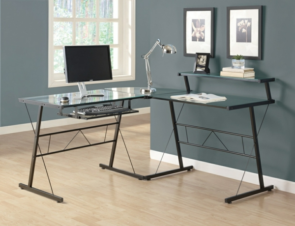 Schreibtisch-mit-Glasplatte-Arbeitszimmer-