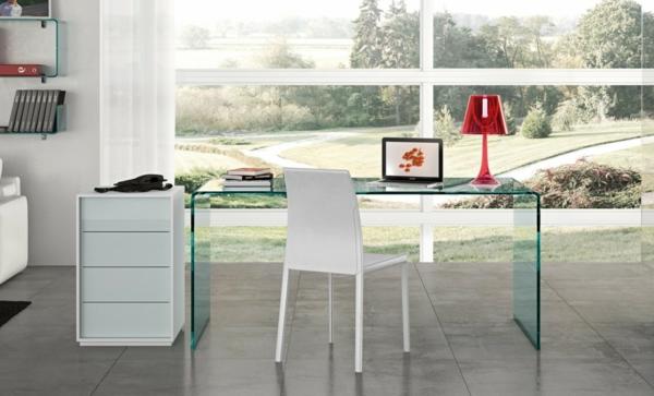 Schreibtische-Glas-Arbeitszimmer-Design-