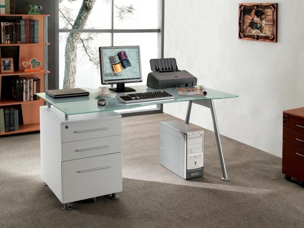 Schreibtische-Glas-Bürogstaltung-Design-Idee