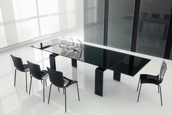 Glastisch schwarz  Esstisch aus Glas - schick und elegant! - Archzine.net