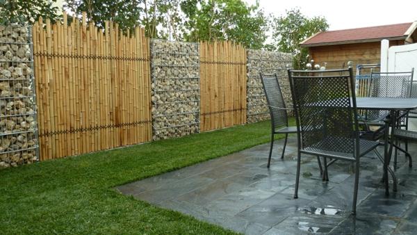 -Sichtschutz-Bambus-Draußen-Sichtschutzzaun-Bambus-