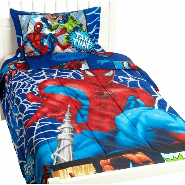 Spiderman-Kinderzimmer--Superhero- Movie-Bettwäsche