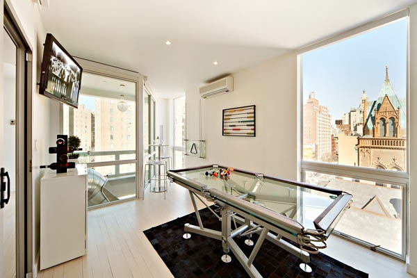 Billardtisch-New-York-penthouse-Design-Ideen