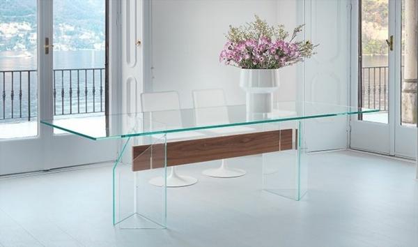 Tisch-aus-Glas-für-das-Esszimmer-Blumen