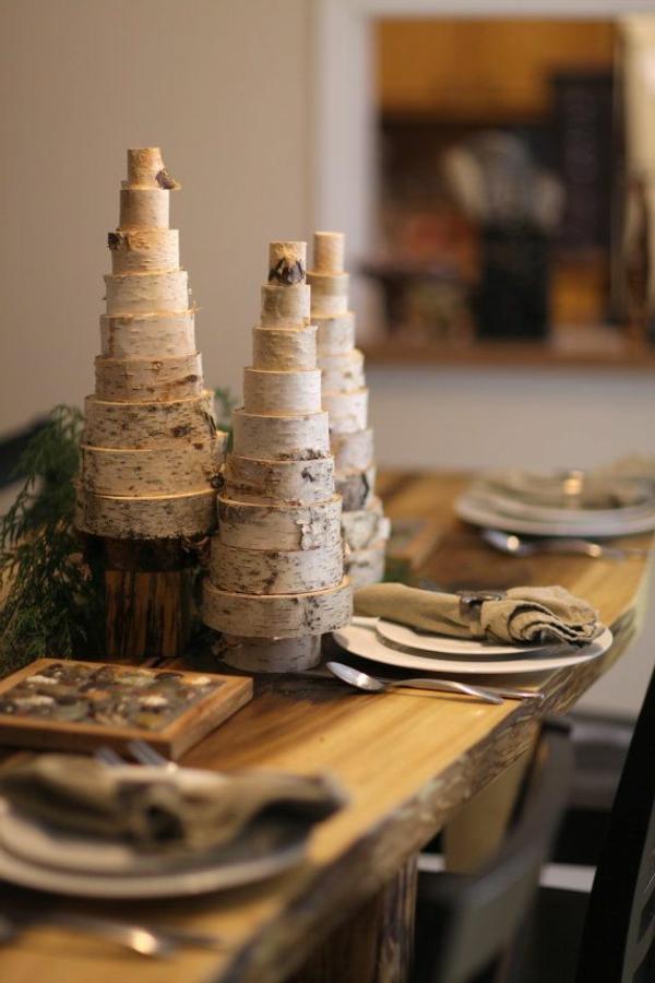 Tischdeko-Ideen-Dekorationen-aus-Birkenstamm-Tischdekoration