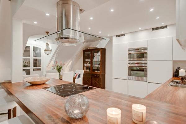 schickes penthouse weißem minimalistischem innendesign